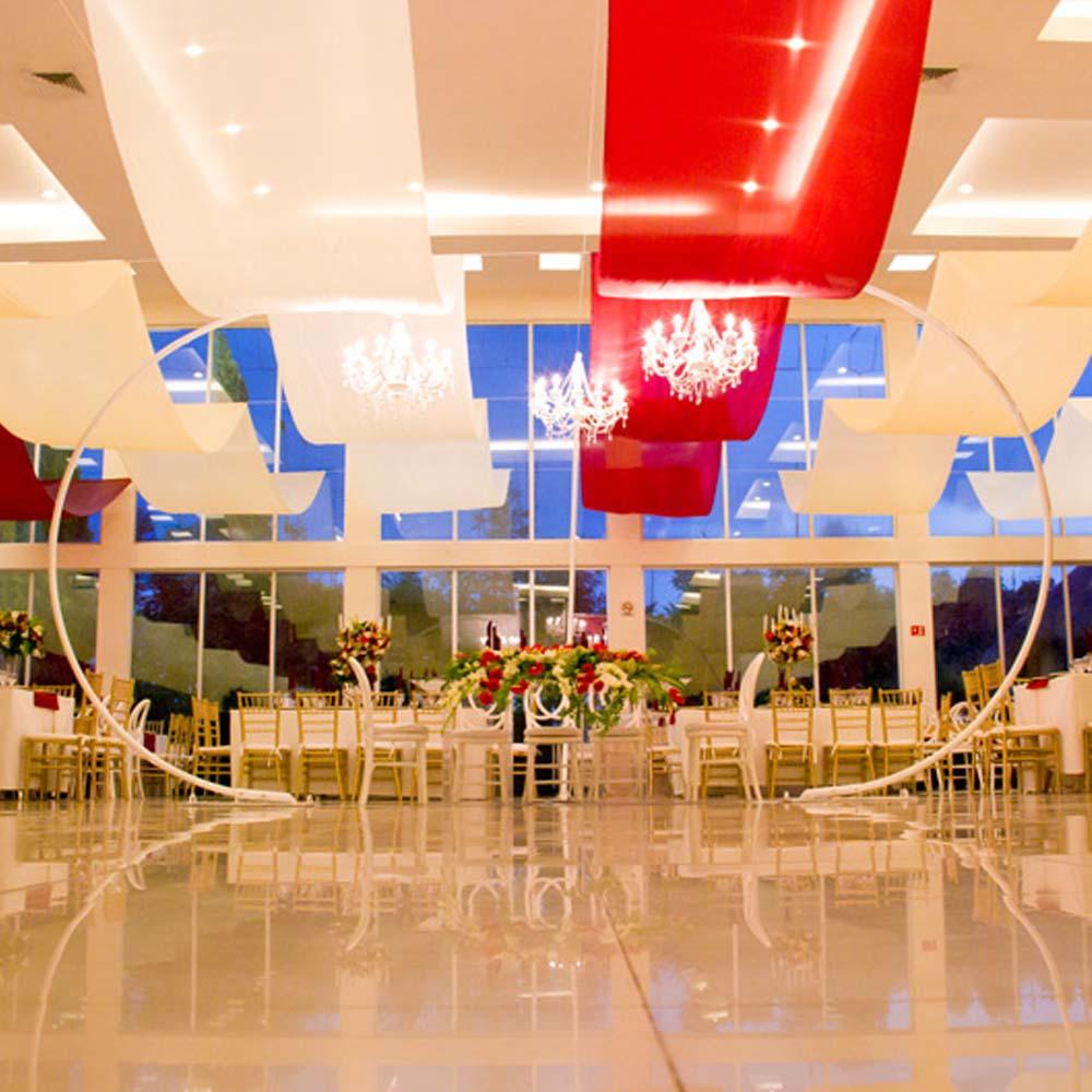 Decorado de Salón de Eventos en Cholula - Salón Zerezotla de Grupo Santa Rosa