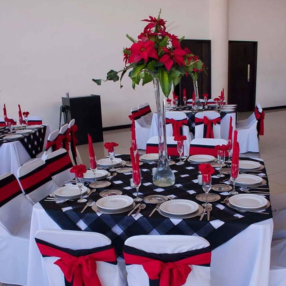 Mantelería de Salón de Eventos en Cholula - Salón Magdalena de Grupo Santa Rosa
