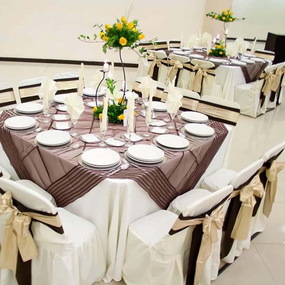 Mantelería de Salón de Eventos en San Pedro Cholula - Salón Magdalena de Grupo Santa Rosa