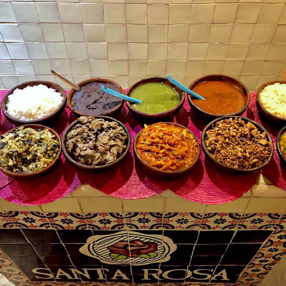 Salsas Buffet - Restaurante Santa Rosa en San Pedro Cholula