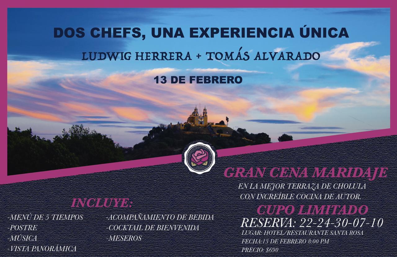 Gran Cena Maridaje en Cholula - Dos Chefs, Una Experiencia Única en Restaurante Santa Rosa
