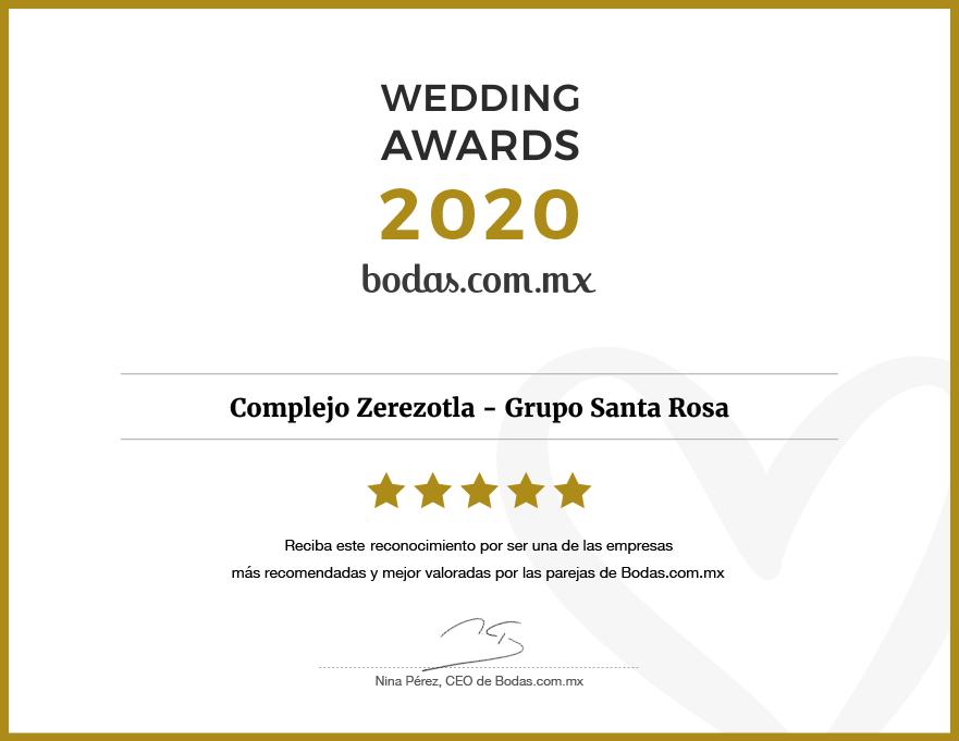 Grupo Santa Rosa - Ganador Wedding Awards 2020 en Puebla