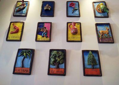 Hotel Restaurante Santa Rosa - Comida Mexicana y Tradicional - Decoración Lotería