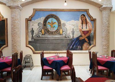 Hotel Restaurante Santa Rosa - Comida Mexicana y Tradicional - Mural
