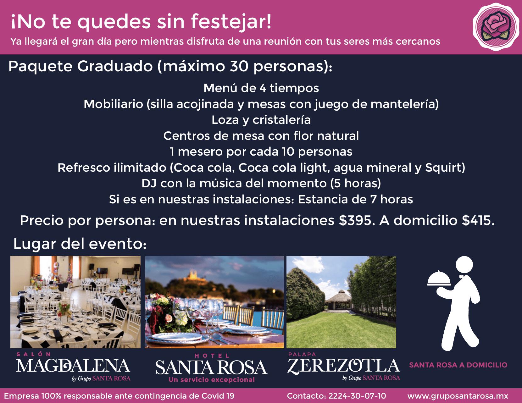 Paquete de Festejo de Graduación en Puebla
