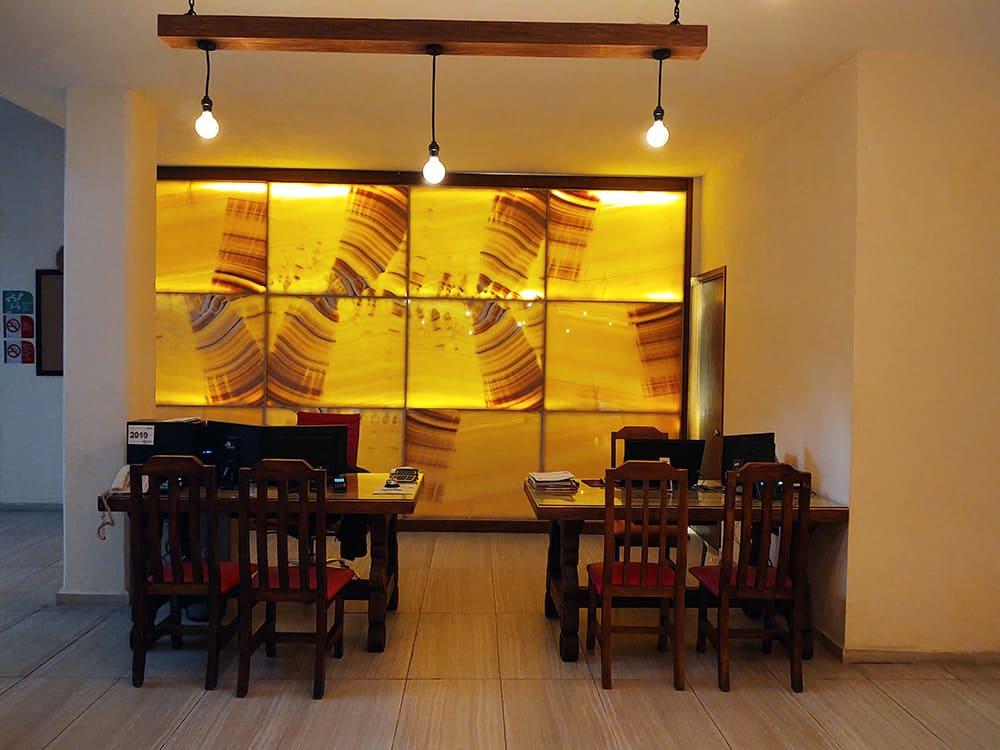 Recepción del Hotel Santa Rosa en Cholula - Hotel Restaurante de Grupo Santa Rosa